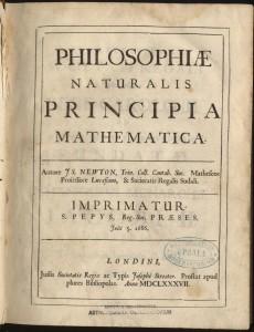 Princípios Matemáticos da Filosofia Natural, de Sir Isaac Newton.