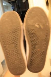 Se a sola do seu sapato estiver assim, cuidado para não escorregar!