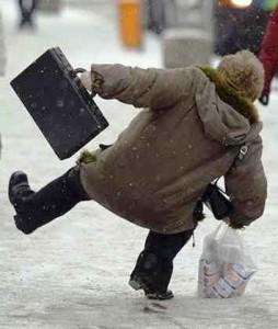 Muito cuidado ao andar no gelo!