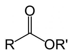 Fórmula genérica do éster.