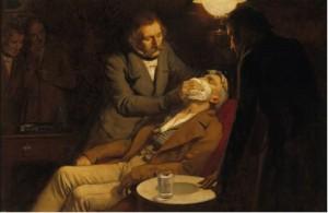 Antigamente, o éter era usado como anestésico.