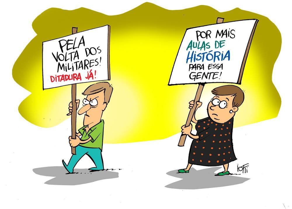Resultado de imagem para ditadura militar charges