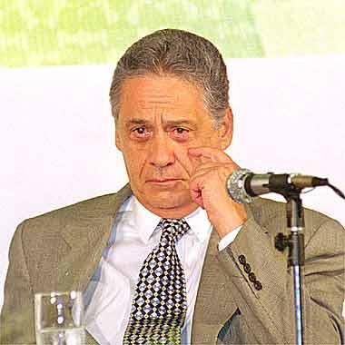 Na foto, o sociólogo Fernando Henrique Cardoso