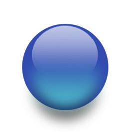 Representação do modelo atômico de Dalton: A bola de bilhar