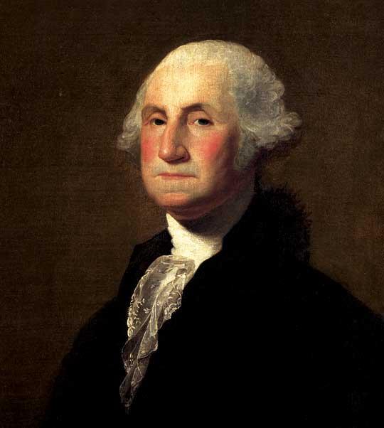George Washington, primeiro presidente dos Estados Unidos.