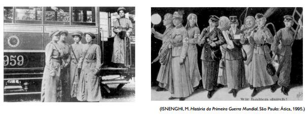 Representação da emancipação feminina durante a Guerra.