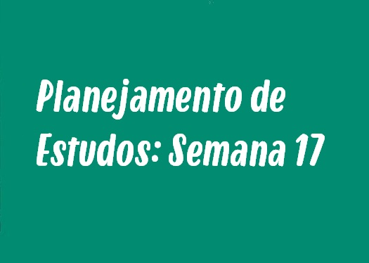 Planejamento de Estudos: Semana 17 - Sintaxe, Urbanização Brasileira e mais!