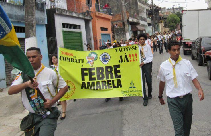 Passeata de conscientização contra a Febre Amarela é realizada em São Paulo