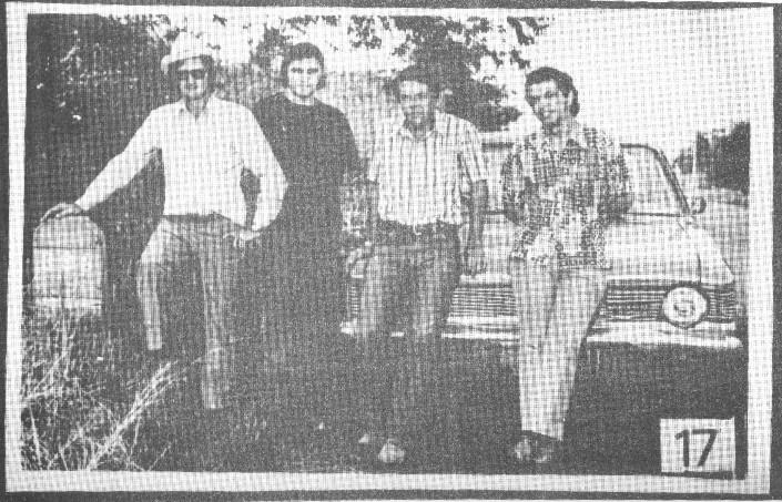 Da esquerda para a direita: Onilson; Dr. Chediak; guarda Queiroz e radialista J. Antônio