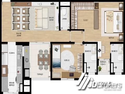 Apartamento de 2 dormitórios em Jardim Trevo, Jundiai - SP