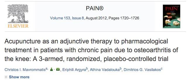 revista pain pesquisa cientifica acupuntura