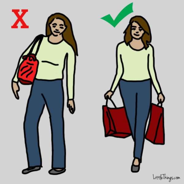 distribua peso das sacolas
