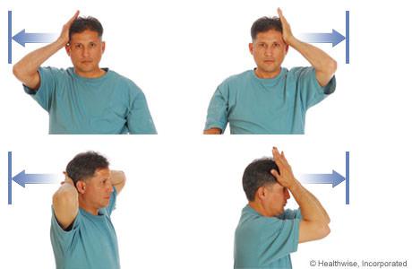 exercite musculos do pescoco