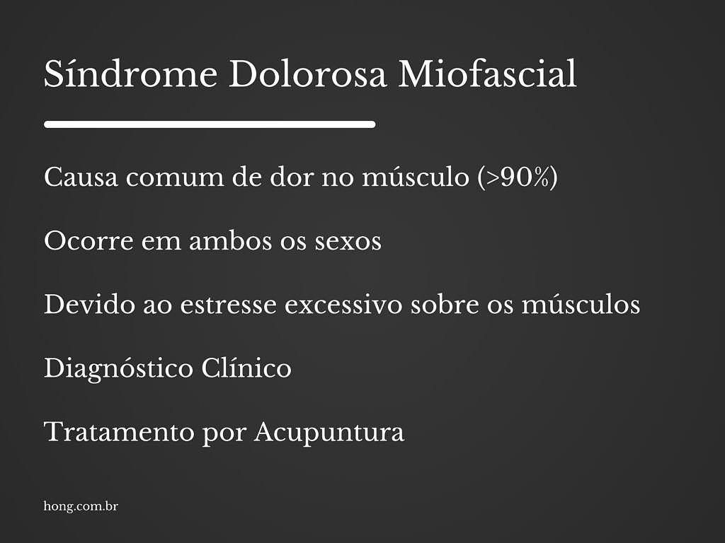 resumo Sindrome Dolorosa Miofascial