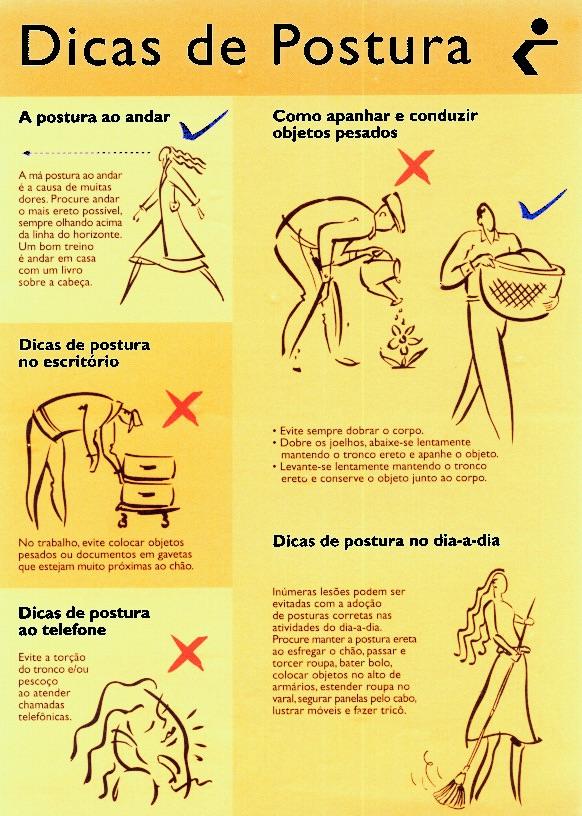 dicas de postura