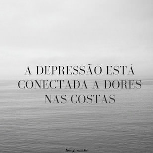 A depressão está conectada a dores nas costas