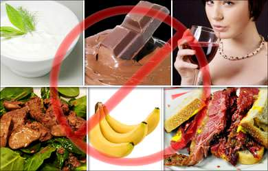 evitar alimentacao enxaqueca