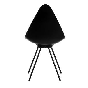 Cadeira Design Jacobsen Drop Preta