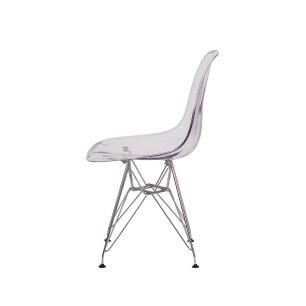 Cadeira Eiffel Eames DSR Transparente Base Cromada