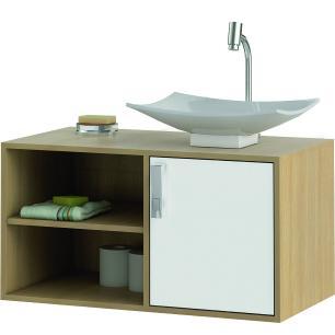 Gabinete de Banheiro Lisboa - Nogueira/Branco - Mgm