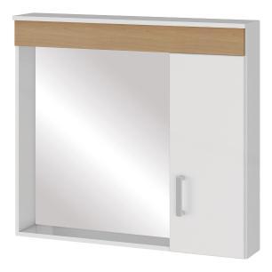 Espelheira para banheiro Madri Branco/Nogueira - Mgm