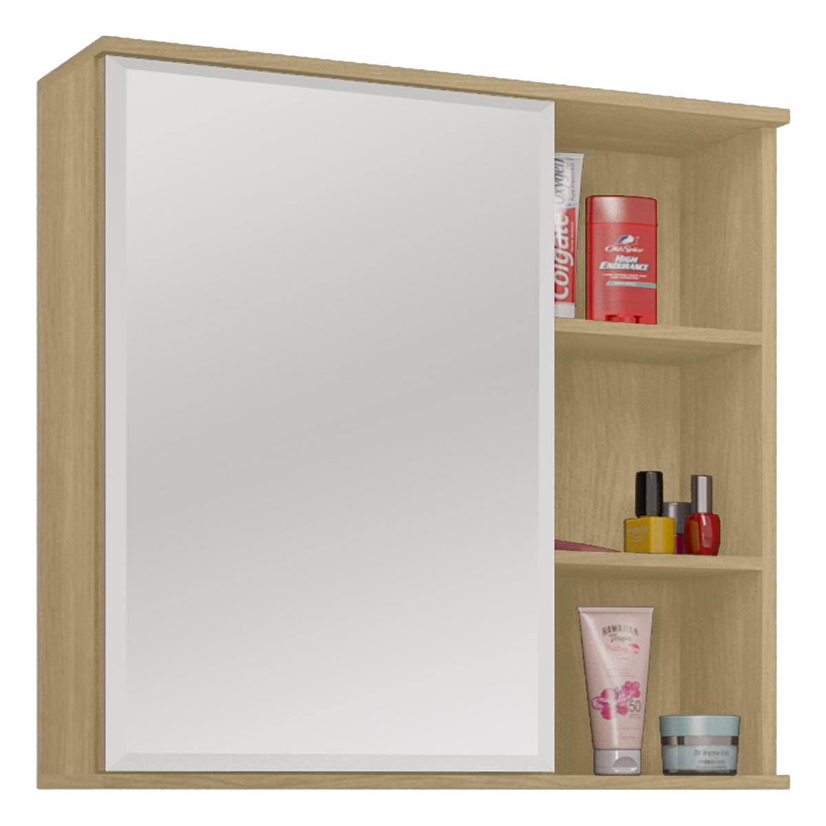 Espelheira para banheiro Treviso Nogueira - Mgm