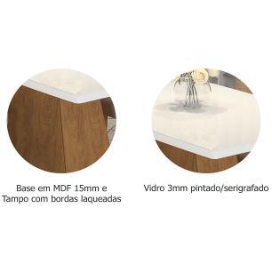 Mesa Helen 130cm x 80cm - Savana/Branco - Cimol - FORA DE LINHA EM 15/05/19