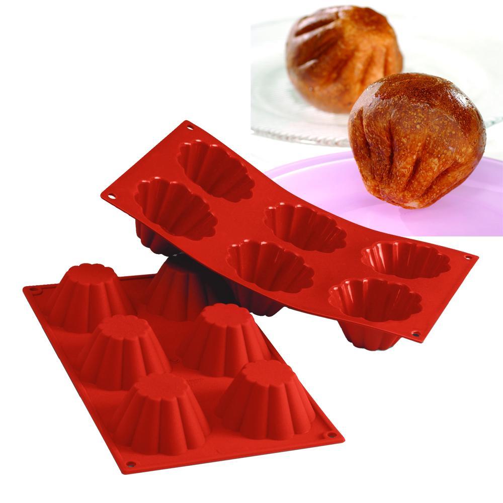 Forma de silicone Brioche com 6 cavidades - Silikomart