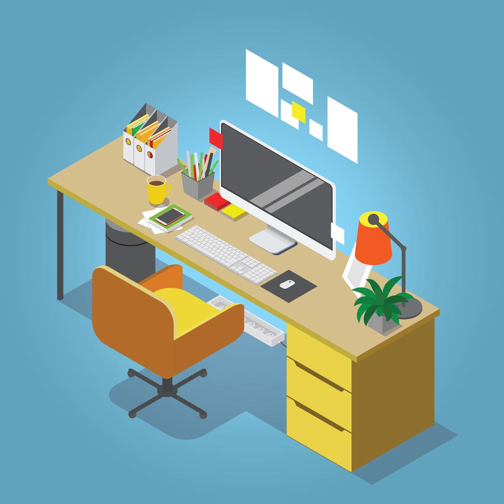 escritorio decorado