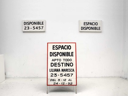 Liliana Maresca. Espacio disponible, 1992.