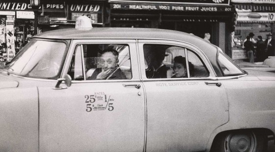 Diane-Arbus-6.-Taxicab-driver-at-the-wheel-with-two-passengers-N.Y.C.-1956