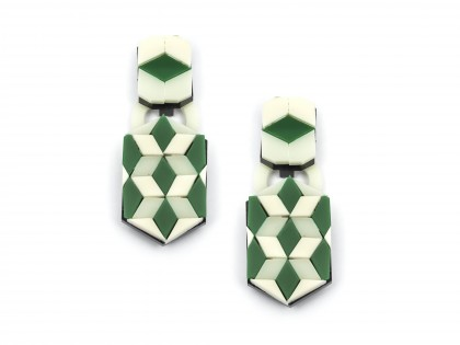 Ideal La Flor Geo Pattern Earrings