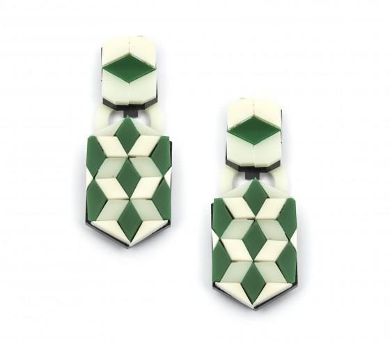 Ideal La Flor Geo Pattern Earrings