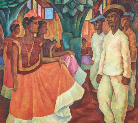 Diego Rivera-Baile en Tehuantepec-1928