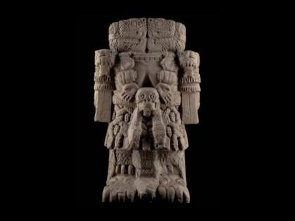 Coatlicue. Período Posclásico tardío (1250-1521 d.C.). Museo Nacional de Antropología de México.