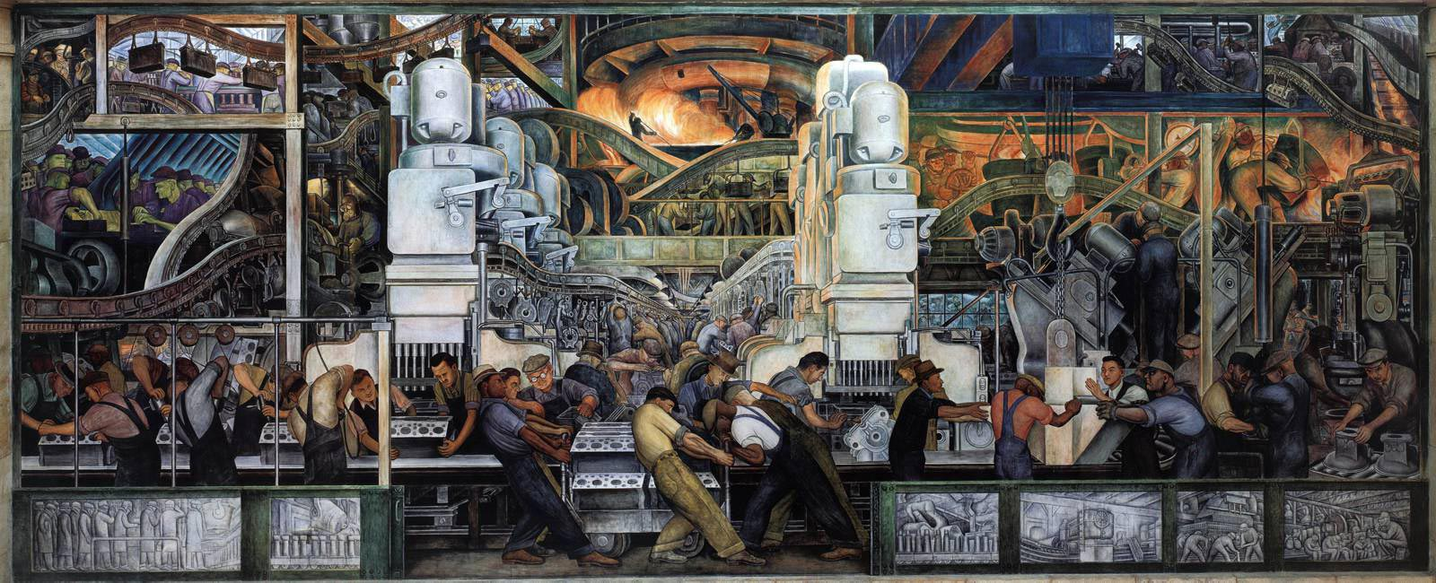 Diego Rivera. Los murales ilustrados de Detroit, 	Detroit Institute of Arts, 1933.