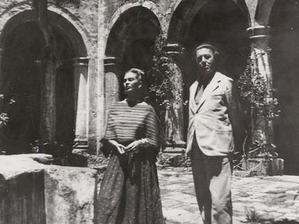 Frida Kahlo y André Breton en México, 1938.