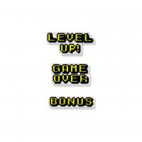 Super Ímãs Palavras de Games Kit com 3