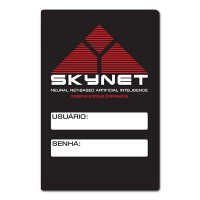 Placa para senha do Wifi Skynet - O Exterminador do Futuro