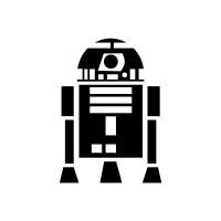 Adesivo Família Star Wars - R2-D2 - Preto