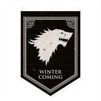 Bandeirola Casas Westeros Stark - Game of Thrones