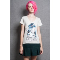 Camiseta Feminina R2-D2 Coffee Machine - Star Wars