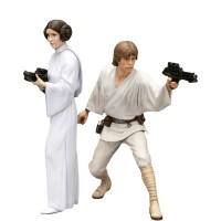 Luke Skywalker e Princesa Leia Star Wars ArtFX+ Statue Kotobukiya
