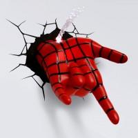 Luminária 3D Light FX Mão Homem Aranha