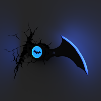 Luminária 3D Light FX Batarang - DC Comics