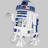 Camiseta R2-D2 Coffee Machine - P - Masculino