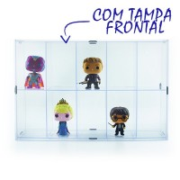 Expositor Funko Pop com Tampa Frontal - 10 Nichos