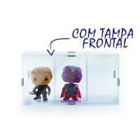 Expositor Funko Pop com Tampa Frontal - 3 Nichos