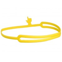 Marcador de Página de Silicone Mão Indicativa - Amarelo