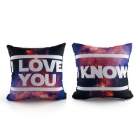 Kit Mini Almofadas Star Wars Han e Leia - I love you  I know